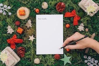 Weihnachtskonzept mit Handschrift