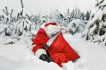 Weihnachtsmann mit seinem Sack
