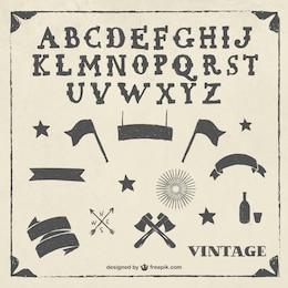 Weinlese-Alphabet