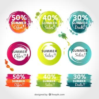 Werbe farbige Aufkleber
