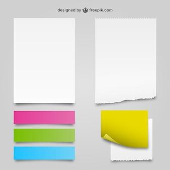Weiß und Farbe Papier Texturen