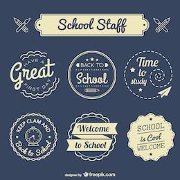 Wieder in die Schule Abzeichen eingestellt