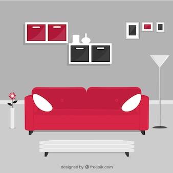 Wohnraum in der modernen Art