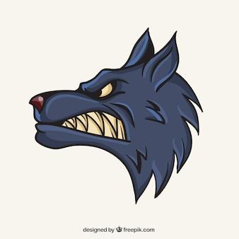 Wolf-Maskottchen