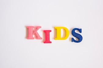 Word Kids gemacht mit Buchstaben