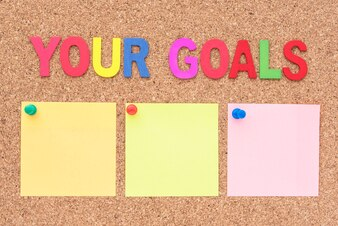 Worte deine Ziele mit Notizblock