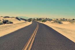 Wüste und die Straße