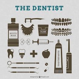 Zahnarzt Vektor-Retro-Grafik