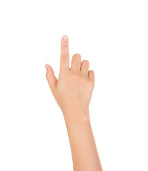 Zeigefinger etwas drücken