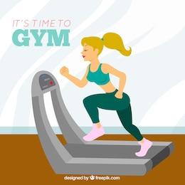 Zeit zum Fitnessraum