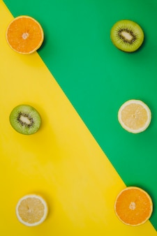 Zitrusfrüchten zentrale Raumzusammensetzung