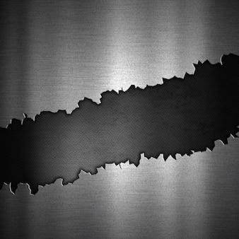 Zusammenfassung Hintergrund mit einem geknackt metallischen Design
