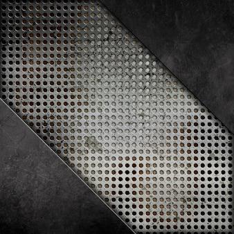 Zusammenfassung Hintergrund mit einem Grunge-Metall-Effekt
