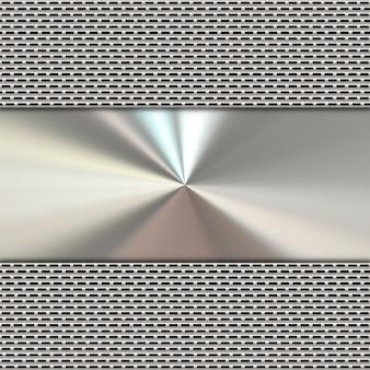 Zusammenfassung Hintergrund mit einer silbernen metallischen Textur