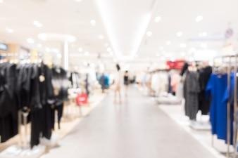 Zusammenfassung Unschärfe Einkaufszentrum