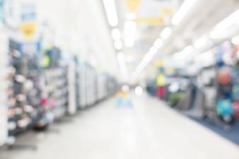 Zusammenfassung Unschärfe Supermarkt
