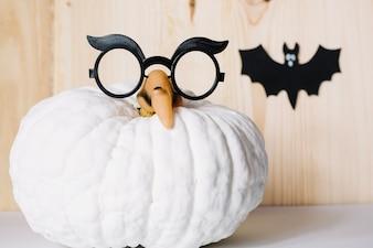 Zusammensetzung der Dekorationen für Halloween-Party
