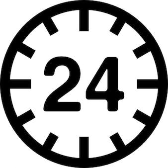 24 hours circular sign
