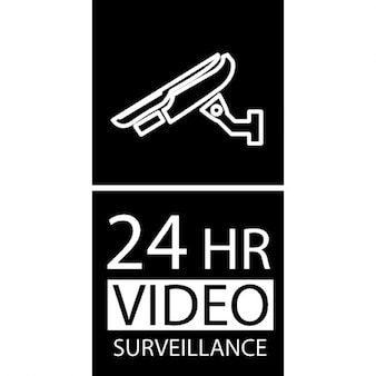 24 hours video surveillance signal