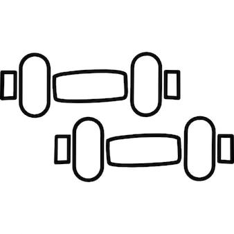 丸みを帯びた形状の抽象的なパターン
