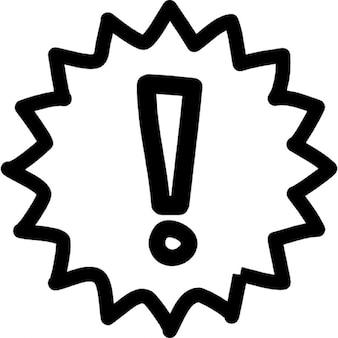 оповещения рисованной символ