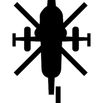 Army helicopter bottom view