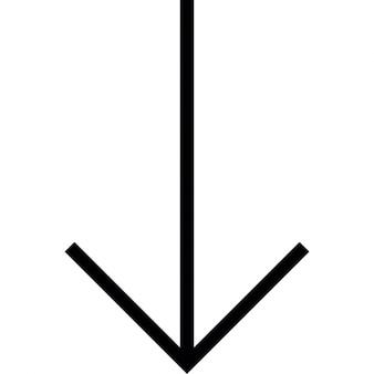 Arrow down to bottom, IOS 7 interface symbol