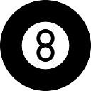 Ball eight of billiard