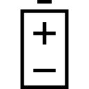 Battery with positive and negative poles symbols