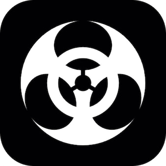 Biohazard symbol on square background