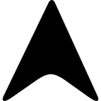 Black arrowhead pointing up