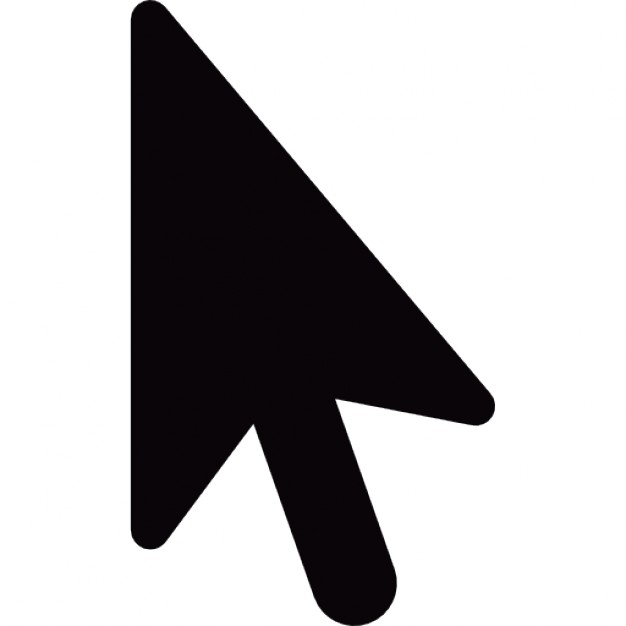 Black cursor arrow