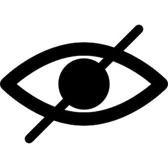 Blind symbol of an opened eye with a slash