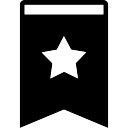 Bookmark filled tool with a star