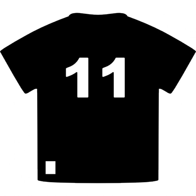 Brazil soccer player t-shirt of number 11