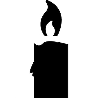 Candle burning