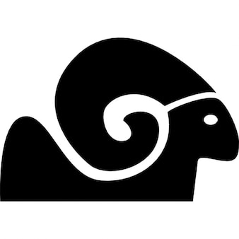 Capricorn symbol with big horn