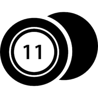 Casino chip with number 11
