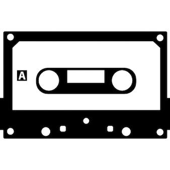 Cassette tape with black border