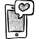 Cellphone with heart notification