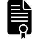 Certification document text paper black interface symbol