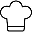 Chef or cooker hat outline