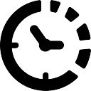 Clock symbol of circular shape