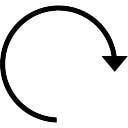 Clockwise circular arrow