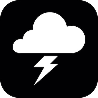 Cloud and lightning bolt symbol