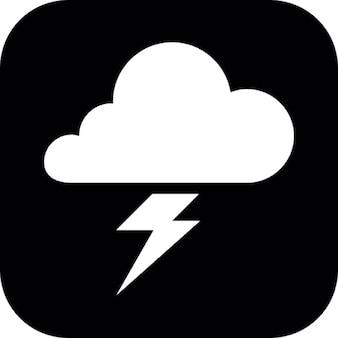 Cloud and lightning bolt symbol