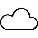Cloud outline internet symbol