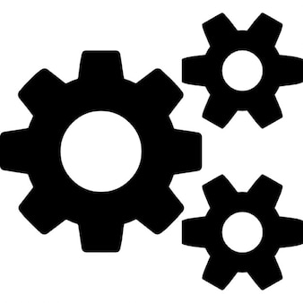 Cogs, one big and two small