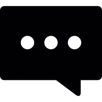 Comment solid rectangular shape of speech bubble