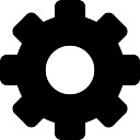 Configuration cogwheel interface symbol